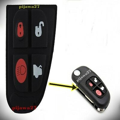 4 Button RUBBER PAD Key Remote Fob for Jaguar X S E F TYPE XJ XK XF XKR Sport segunda mano  Embacar hacia Spain