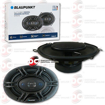 "BRAND NEW BLAUPUNKT 5""x 7"" 4-WAY CAR AUDIO COAXIAL SPEAKERS (PAIR) 720W MAX"