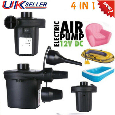 Electric Air Pump Inflator for Inflatables Camping Bed pool DC 12V Car Use UG