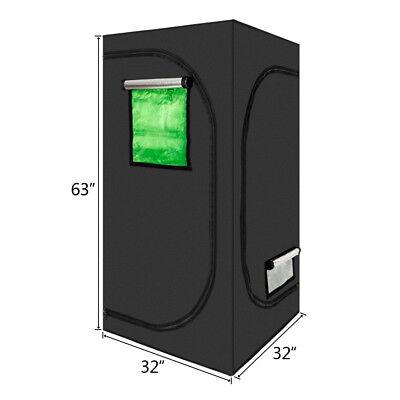 80*80*160cm Indoor Grow Tent Hydroponic 100% Reflective Mylar Non Toxic Room Box