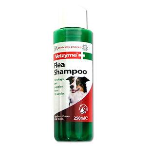 Vetzyme Flea Shampoo for Dogs & Puppies 250ml Deep Cleansing Kills Fleas & Ticks