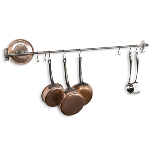 with forged wrought rack iron wall steel hooks pot