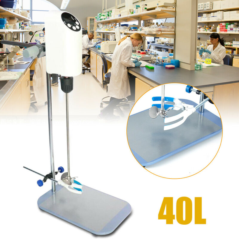 Digital Display 40L Lab Electric Overhead Stirrer Mixer Agitator Homogenizer