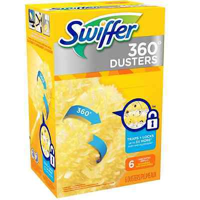 Swiffer 360 Degrees Disposable Dusters Refills, Unscented 6