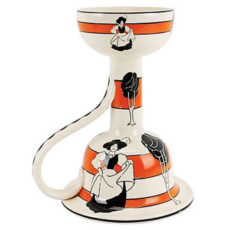Antique Arts & Crafts Ceramic Candleholder
