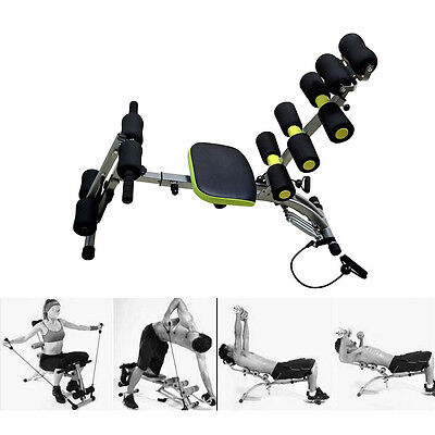 6 IN 1 AB FITNESS HOME EXERCISE EQUIPMENT CORE TONING GYM WORKOUT WONDER MACHINE