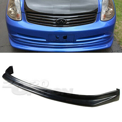 TYPE-NIS PU FRONT BUMPER LIP SPOILER POLY URETHANE FOR 03-04 INFINITI G35 SEDAN