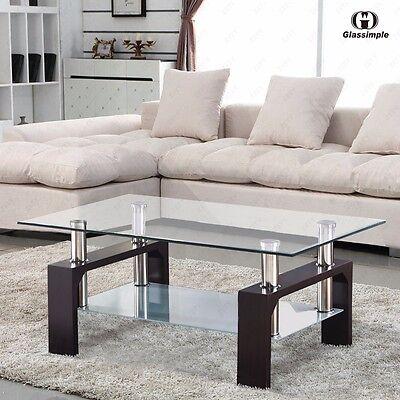 Artificer Glass Rectangular Coffee Table Shelf Chrome Wood Living Margin Furniture