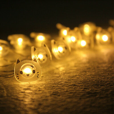 Cute 2M LED String Light 20LEDs Cat Copper Wire LED Fairy Christmas Party Light](Cute String Lights)