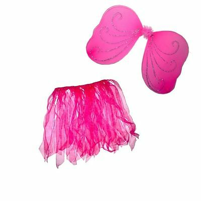 Real Fairy Costumes (Fairy Wing and Tutu Set For Kids Girls Real Little)