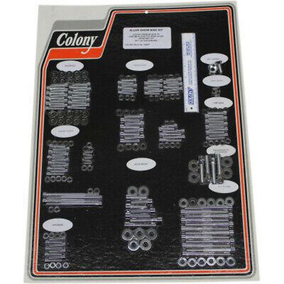Colony Engine Bolt Kit Chrome Drivetrain Hardware M8 Harley 17-20 Touring Bagger