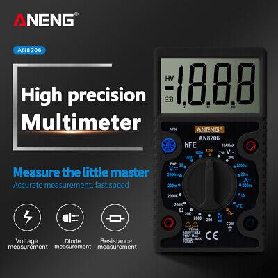 Aneng An8206 Mini Digital Multimeter Ampere Voltage Ohm Tester Multi Meter
