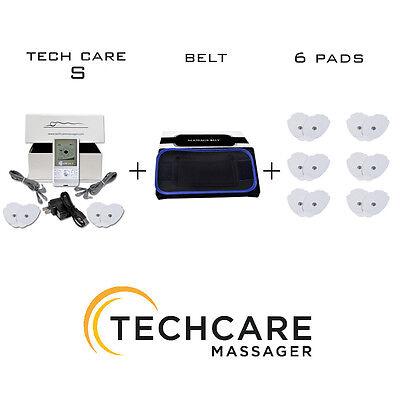 Portable Tens Massager Unit + 6 Extra Pads + Belt Pain Sc...