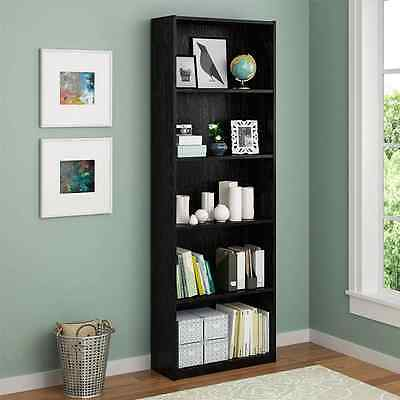Wooden Decorative Bookcase Adjustable Book Shelves Open Shelving Unit 5 Shelf