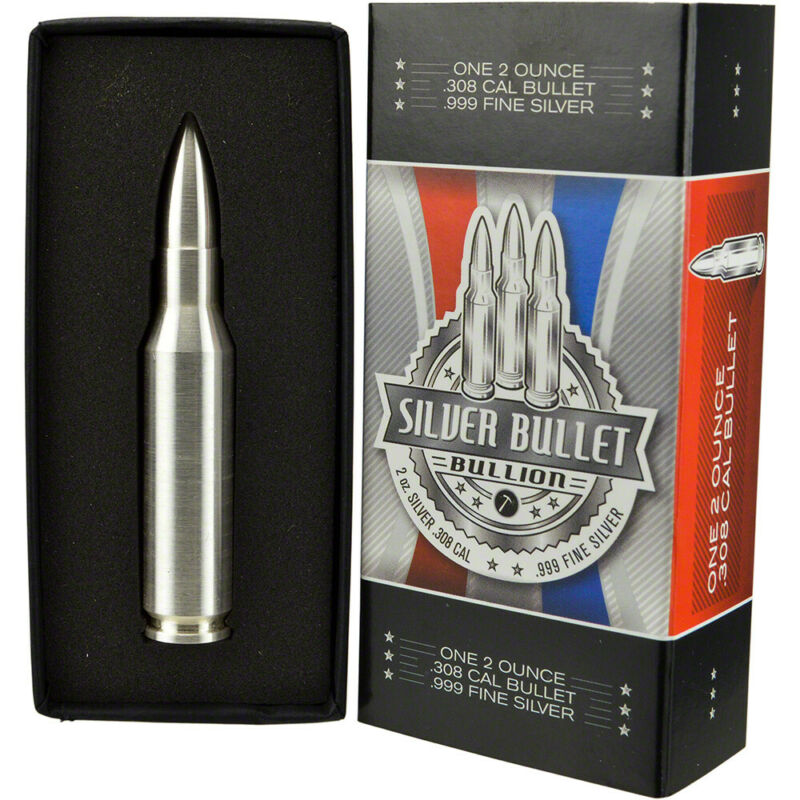 2 oz Silver Bullet .308 Caliber - .999 Fine in Gift Box