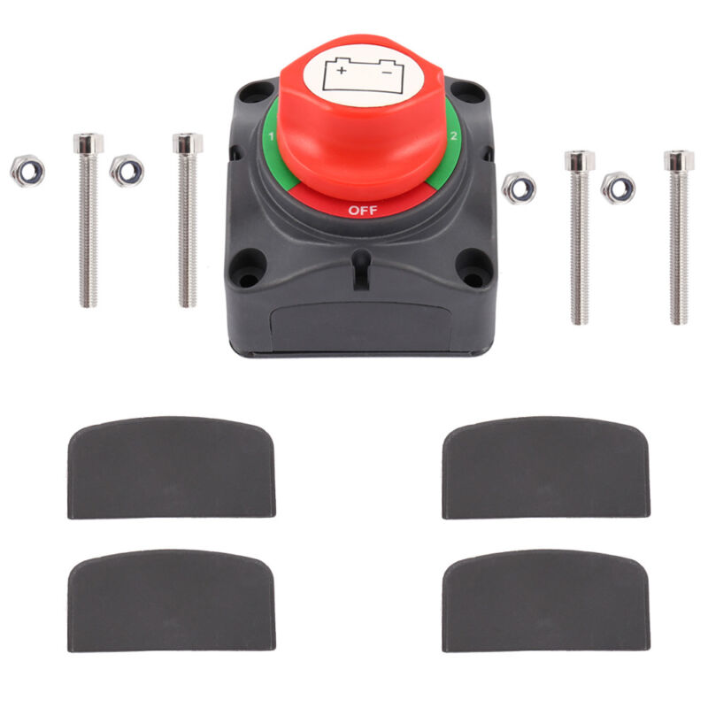 12V// 24V 1000A Dual Battery Selector Isolator Switch for Marine Boat RV Vehicles