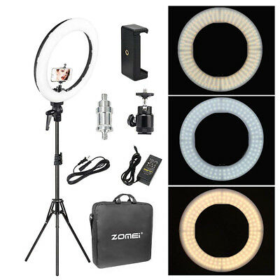 Led Ring (18'' LED SMD Ring Light Kit With Stand Dimmable 5500K For Camera Makeup Phone)