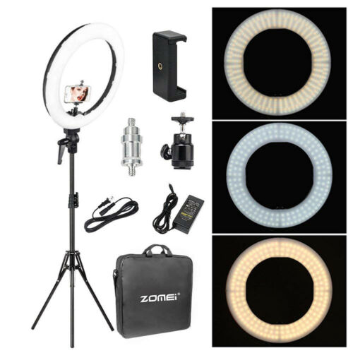 18'' LED SMD Ring Light Kit With Stand Dimmable 5500K For Ca