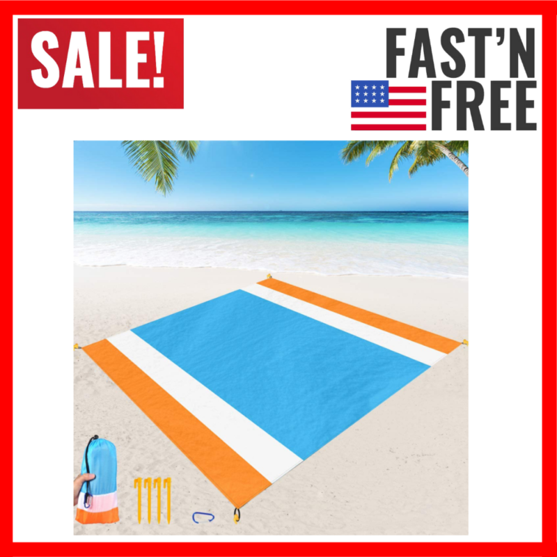 Beach Blanket Sand Proof Extra Large Beach Mat Outdoor Picni