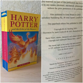 Harry Potter and the Order of the Phoenix, J. K. Rowling, Bloomsbury [First Edition]