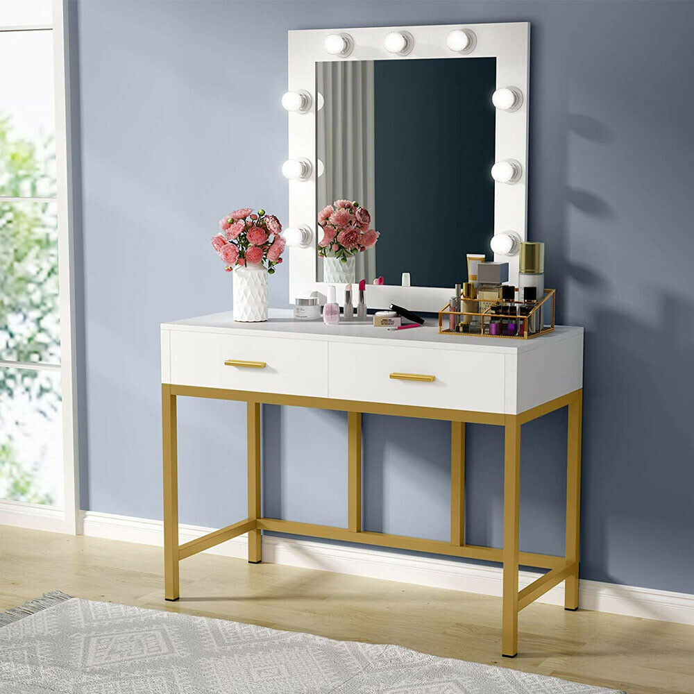 Details about New Bedroom Makeup Vanity Set Dressing Table Touch LED Light