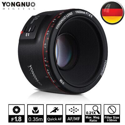 YONGNUO YN50mm F1.8 II AF MF 0,35 M-Objektiv FüR CANON EF EOS DSLR Kamera R7V1