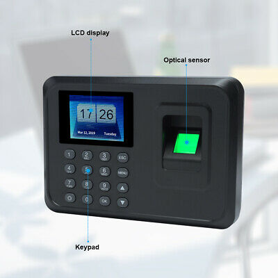 Check In Time Clock Fingerprint Biometric Password Attendance Machine NEW G6B8