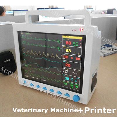 Vet Icu Ccu Patient Monitor Veterinary Nibp Ecg Spo2 Temp Resp Pr Printer Fda Ce