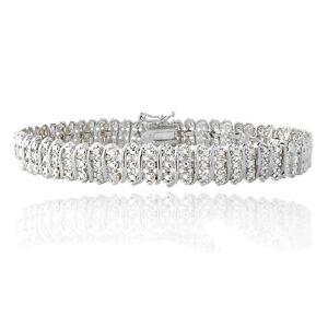 1.00ct TDW Diamond S Link Tennis Bracelet