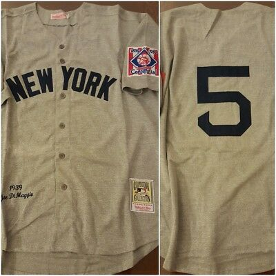 1ecc2cd8f NY Yankees Legend Joe DiMaggio Grey Replica THROWBACK Baseball Jersey Size  XL