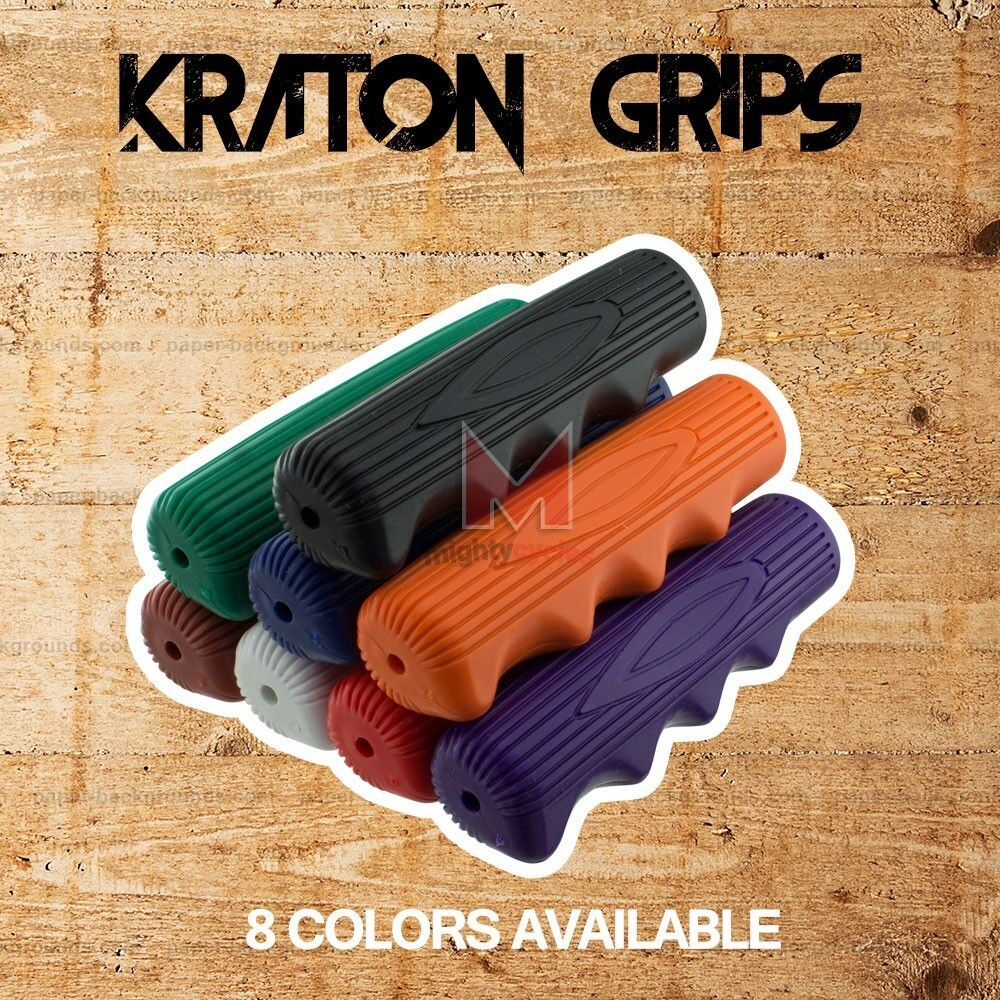 Kraton Rubber Bicycle Handlebar Grips Lowrider BMX Beach Cru