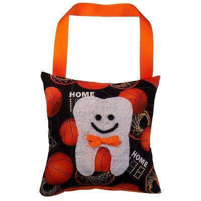 Tooth Fairy Pillow Boy's Basketball Print Hand Crafted Made in the USA *NEW*