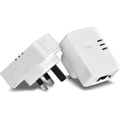 NEW TRENDnet TPL-406E2K Powerline 500 AV Nano Network TWIN PACK Starter Kit!