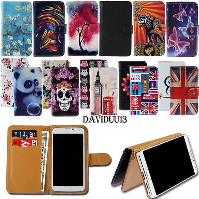Leather Wallet Stand Case Cover For Various MY Go GoFone Sma