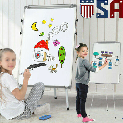 Portable Height Adjustable Tripod Magnetic Whiteboard Dry Erase Board 24 X 36 In
