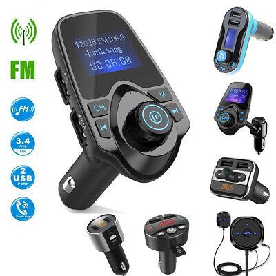 Hands Free Bluetooth FM Transmitter Auto MP3 Player USB Stick KFZ Micro SD AUX (Fm-transmitter Bluetooth Auto)