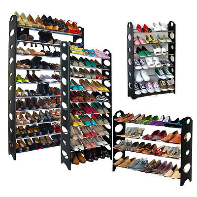 Shoe Rack 6/10 Tier Storage Organizing Home Organizer Holder Tower Wall Portable