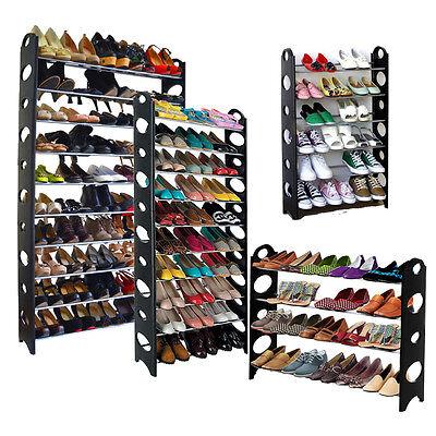 4/6/10 Tier Shoe Rack Organizer Shelf Stand Wall Bench Closet Storage Holder Tow 4 Tier Shelf Rack