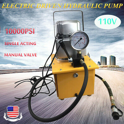 10000psi Electric Driven Hydraulic Pump Single Acting 63mpa1.8m Oil Hose 110v