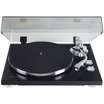 Teac TN-400S Belt-driven Turntable with S-Shaped Tonearm - Gloss Black