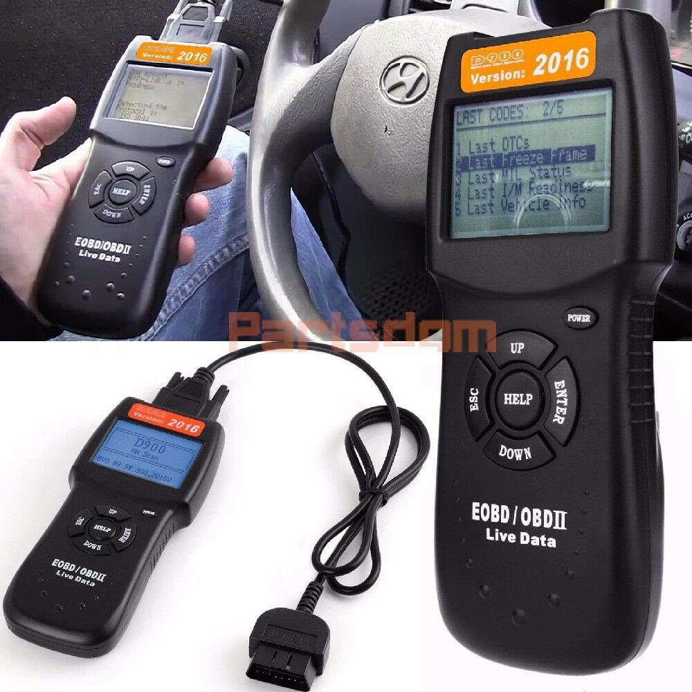 2016 D900 Obdii Obd2 Can Auto Fault Code Reader Engine