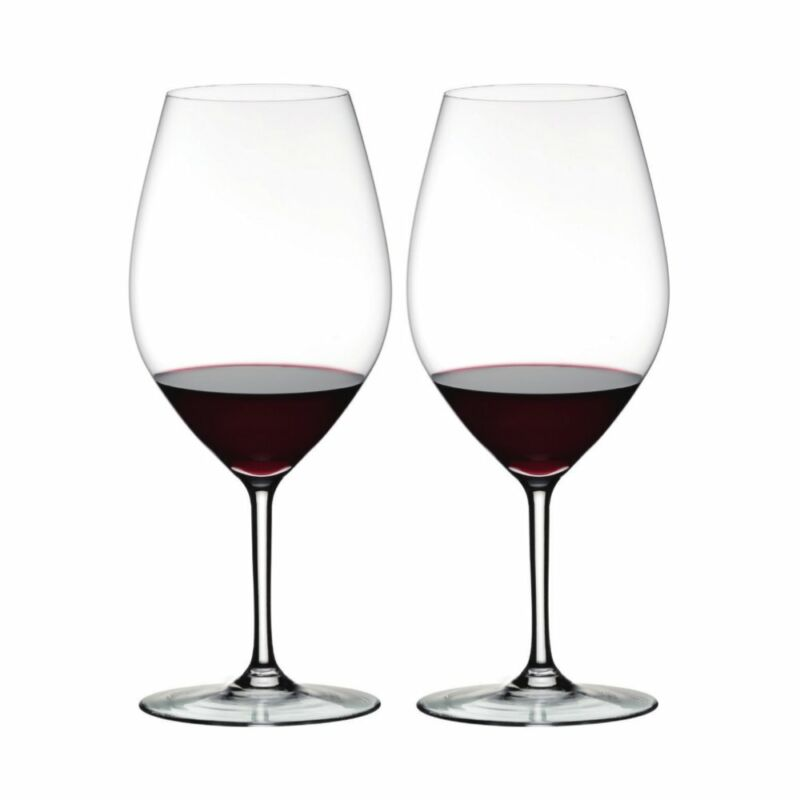 Riedel Overture Double Magnum Crystal Red Wine Glasses, 10.28 Ounce (2 pack)