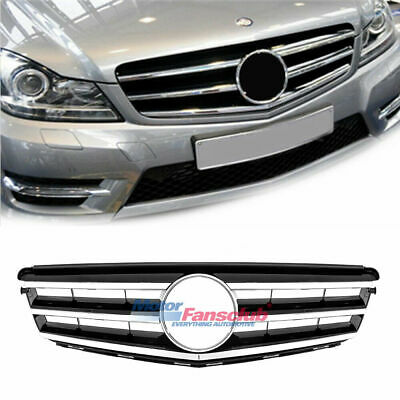 For Mercedes Benz 2008-14 C-Class W204 Front Grill Black Radiator C300 C350 C250
