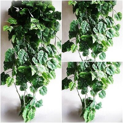 künstliches Weinlaub 80cm künstliche Ranke Efeu Busch Deko Kunstpflanzen Blätter Weinblätter