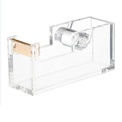 New Ondisplay Acrylic Desktop Tape Dispenser - Clear Metallic Gold