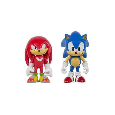 Sonic 25Th Anniversary 3 Action Figure With Comic Book   Sonic And Knuckles