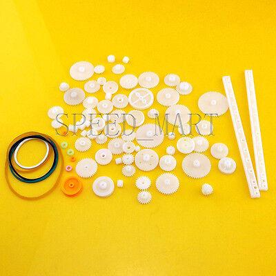 75pcslot Plastic Gear Rack Pulley Belt Worm Gear Single And Double Gear