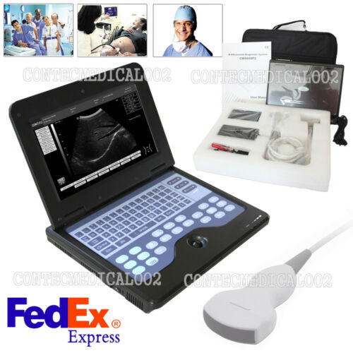 USA Fedex,CONTEC CMS600P2 Ultrasound Scanner Laptop Machine 3.5Mhz Convex Probe