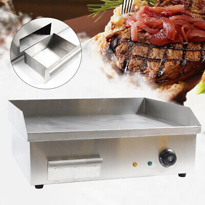 Electric Griddle Cooktop Countertop Grill Bbq Plate Thermomate Stainless Steel
