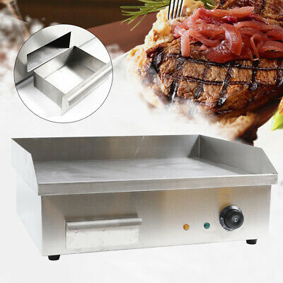 Commercial Electric Countertop Griddle Flat Top Restaurant Grill Bbq 110v Usa